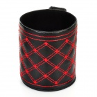 Car Air Inlet Hanging Type Basket Pocket - Black + Red