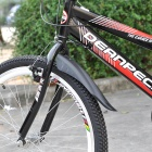 Mountain Bike Bicycle Front & Rear Adjustable Mud Guard Fenders - Black