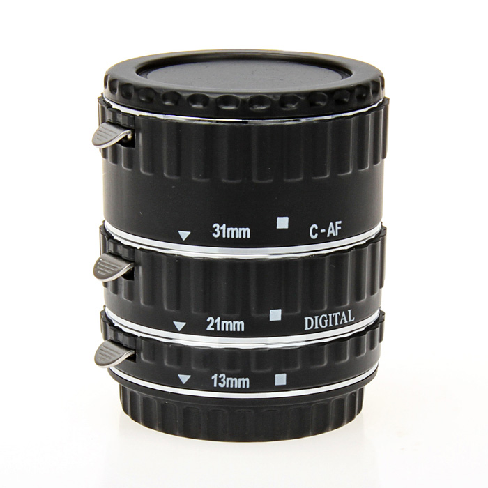 3-in-1 60mm Micro Extension Tube Set for Canon EOS Serials SLR - Black