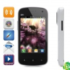 "808 Android 2.3 GSM Bar Phone w/ 3.5"" Resistive Screen, Quad-Band, Wi-Fi and Dual-SIM - White"