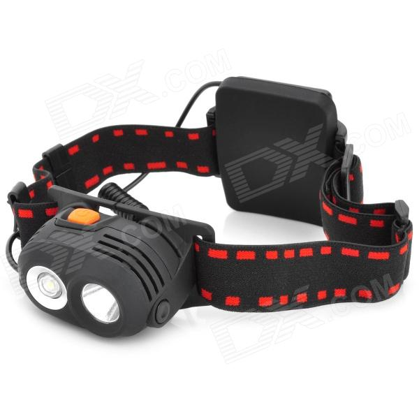 NEW-577 2-Mode 270LM White LED Headlamp - Black (3 x AA)