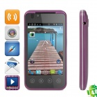 "B3000 Android 4.0 GSM Phone w/ 3.5"" Capacitive Screen, Quad-Band, Wi-Fi, TV and Dual-SIM - Purple"