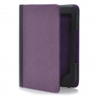 Protective PU Leather Case w/ 2-LED White Light for Kindle 4 - Purple