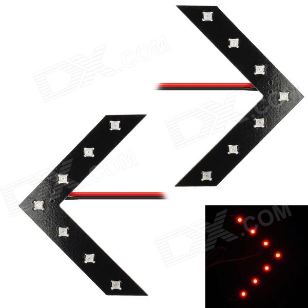 0.4W 21lm 7-SMD 3528 LED Red Light Car Steering Lamp (12V / 70cm / 2 PCS) dhs power g7 pg7 pg 7 long shakehand fl with 2 pieces palio cj8000 2 side loop type 2015 the new listing