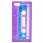 Protective Cassette Style Silicone Back Case for iPhone 5 - Purple