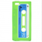 Protective Cassette Style Silicone Back Case for iPhone 5 - Green