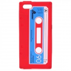 Protective Cassette Style Silicone Back Case for iPhone 5 - Red