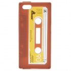 Protective Cassette Style Silicone Back Case for iPhone 5 - Brown