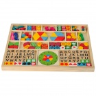 Xingmengyuan XM-6009 Animal Shape Wooden Threading Beads Set - Multicolored