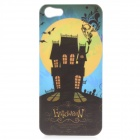 Halloween Moon Castle Pattern Protective Back Case for iPhone 5 - White + Black + Yellow + Blue
