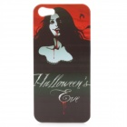 Halloween Vampire Woman Figure Protective Back Case for iPhone 5 - White + Black + Red