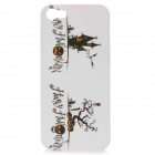 Halloween Skeleton Pumpkin Pattern Protective Back Case for iPhone 5 - White + Black + Yellow
