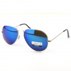 Fashion Resin Polaroid Lens Sunglasses - Silver + Blue