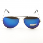 Resin UV 400 Protection Polaroid Lens Sunglasses - Silver + Blue
