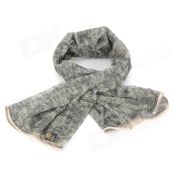 Outdoor Cotton Net Neck Warmer / Scarf - ACU Digital Camouflage