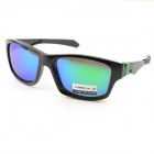 Fashion Oreka Resin Polaroid Lens Sunglasses - Black + Green