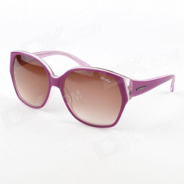 Fashion Oreka Resin Lens Sunglasses for Women - Purple + Tawny 2015 new women sunglasses large frame sun glasses men fashion sunglasses oculos