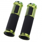 Comfortable Motorcycle Bicycle Non-Slip Latex Handlebar Covers - Black + Light Green (2 PCS)