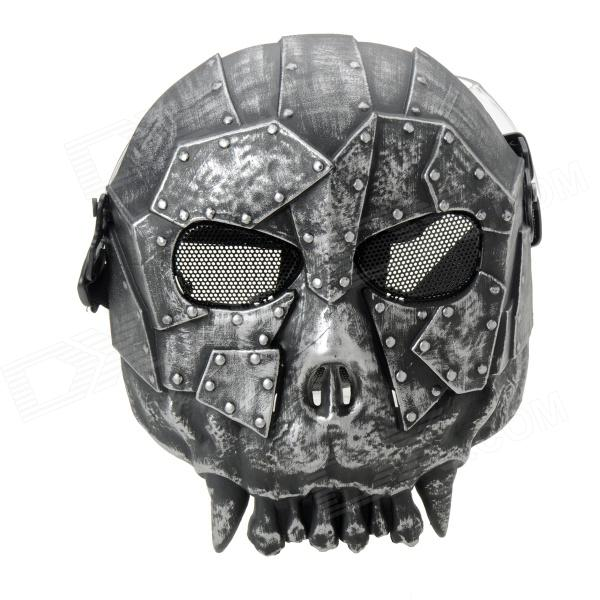 Cool Wargame Face Protection Ghost Mask - Silver + Black