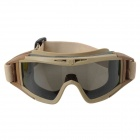 Stylish Outdoor Riding Eye Protection Glasses Goggle - Brown + Black + Yellow