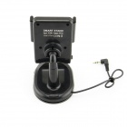 "0.8"" LCD 360' Rotating Car Charger Smart Stand w/ Hands-Free / FM Transmitter - Black (DC 12~24V)"
