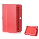 Lychee Pattern Protective PU Leather Case for Samsung Galaxy Note N8000 - Red