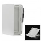 Lychee Pattern Protective PU Leather Case for Samsung Galaxy Note 10.1 GT-N8000 - White