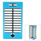 Ultra-Slim Protective Magnetic Button Open Aluminum Alloy Case for Iphone 4 / 4S - Blue