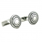 Charming Plating White Steel Cufflinks for Men - Sunflower (Pair)