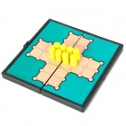 Travel Portable Folding Magnetic Checkers Set - Yellow