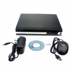 Embedded Linux 4-CH Network DVR Digital Video Recorder w/ USB / LAN / VGA / RS485 / SATA - Black