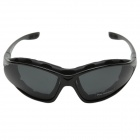 CARSHIRO Motorcycle Polarized Resin Lens Sunglasses - Black + Grey
