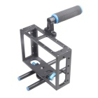 Universal Protective DSLR Camera Cage Stabilizer w/ Top Handle Set - Black + Blue