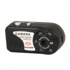 AT800 CMOS 12MP Aluminum Alloy Mini Digital Camcorder w/ 5-LED IR Night Vision - Black