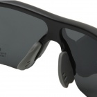 CARSHIRO Outdoor Polarized Resin Lens Sunglasses Goggle - Black + Grey