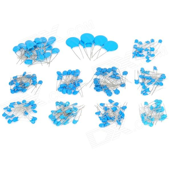 Universal DIP 1000V Ceramic Capacitors Set - Blue (10 x 20 + 1 x 5 PCS)