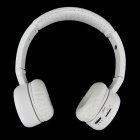 QC-18 USB Rechargeable Folding Wireless Headphone w/ TF / FM / 3.5mm Jack - White
