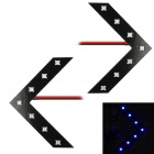 0.4W 18lm 7x3528 SMD LED Blue Light Car Steering Lamp (2 PCS)