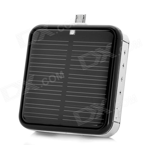 Solar Powered External 2200mAh Emergency Battery Charger w/ Micro USB Port for Cell Phone - Black пальто levall пальто