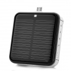 Buy Solar Powered External 2200mAh Emergency Battery Charger Micro USB Port Cell Phone - Black