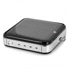 Solar Powered External 2200mAh Emergency Battery Charger w/ Micro USB Port for Cell Phone - Black