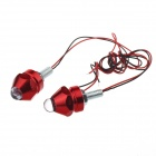 0.08W 1-LED Multi-Colors Decoration Light for Motorcycle DIY - Silver + Red (12V / 20cm / 2 PCS)