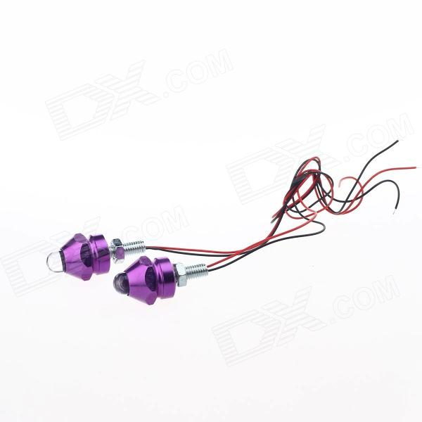 0.08W 2-LED Multi-Colors Decoration Light for Motorcycle DIY - Silver + Purple (12V / 20cm / 2 PCS) horizon elephant ultimaker original ultimaker 2 cyclops multi color hotend kit hot end 2 in 1 out switching hotend 12v 24v 3d pr