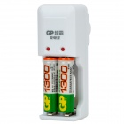 GP GPKB02GW2A 2 x AA / AAA Battery Charger w/ 2 x AA Rechargeable 1300mAh Batteries - White