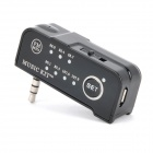 3.5mm FM Transmitter Car Music Player w/ Car Charger for Iphone / Ipad / MP3 - Black