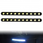 10W 90lm 10-LED White Light Eagle Eye Car Daytime Running Lamps (DC 12V / 2 PCS)