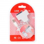 USB 2.0 Male to SATA 7P + 6 Pin SATA Male Cable for CD-ROM - White (27cm)