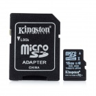 Kingston Micro SDHC / TF Memory Card w/ SD Adapter - Black (16GB / Class 10)
