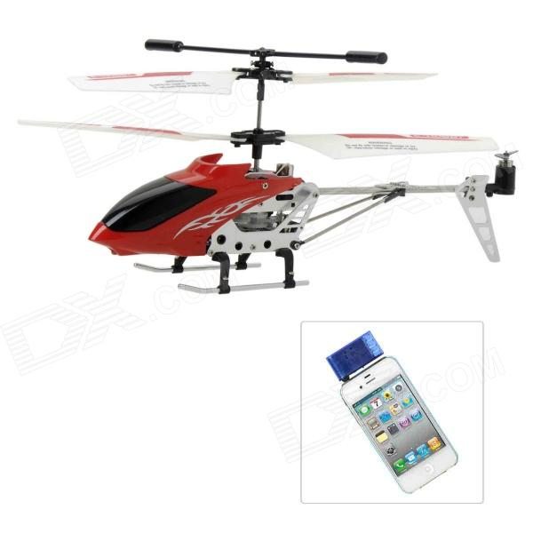 Rechargeable Alloy 3-CH Iphone / Ipad / Ipod Remote Control R/C Helicopter w/ Gyroscope - Red