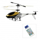 Rechargeable Alloy 3-CH Iphone / Ipad / Ipod Remote Control R/C Helicopter w/ Gyroscope - Golden